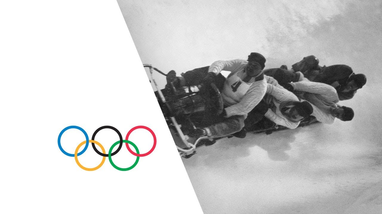 Amazing Scenes - First Ever Olympic Bobsleigh Event | Chamonix 1924 Winter Olympics
