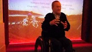 Famous Horse Jockey Ron Turcotte who rode Secretariat takes questions from the audience