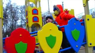 Vania and Mania play with playground