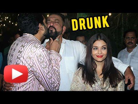 Sanjay Dutt DRUNK, Creates Scene   Bachchans Diwali Party   Aishwarya Rai, Abhishek Bachchan