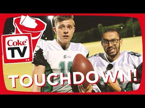American Football mit Jonas & Jonas Himmel | #CokeTVBucketlist