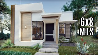 Small House Design  6x8 Meters  Minimalist  Rendered Animation