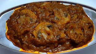 மஷ்ரூம் மசாலா சமையல் | mushroom masala recipes in tamil | side dish for chapathi in tamil veg