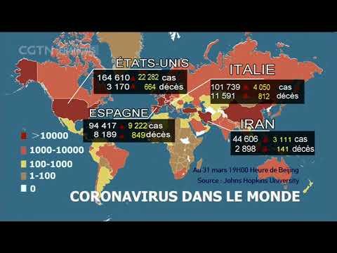Bilan de l'épidémie du coronavirus dans le monde