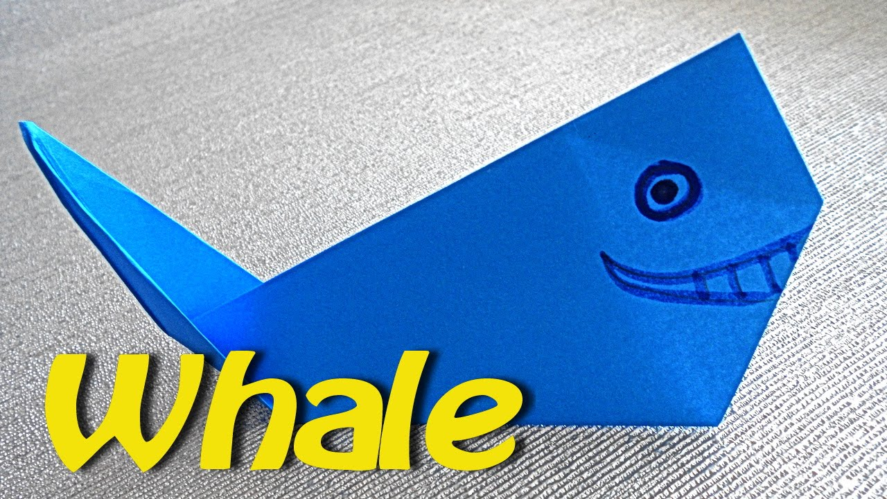 How To Make Whale Fish Origami For Kids