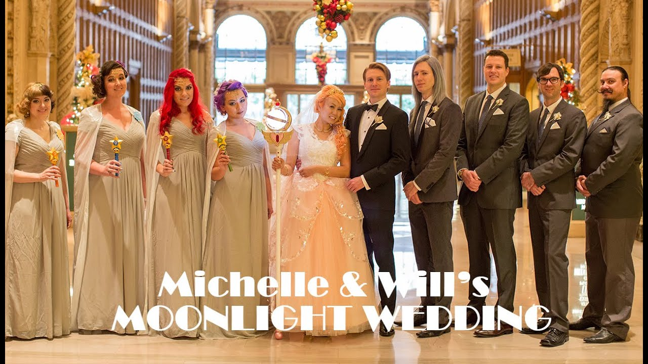 Michelle and wills moonlight wedding a sailor moon art deco michelle and wills moonlight wedding a sailor moon art deco themed event youtube ombrellifo Images