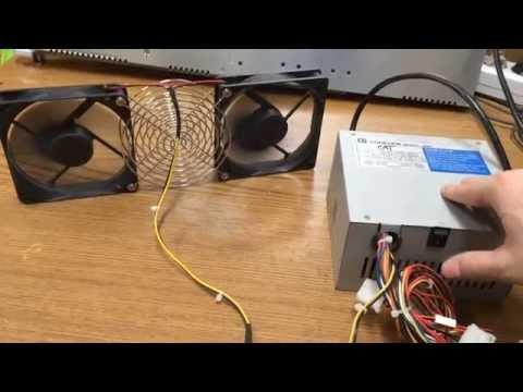 Вентилятор из блока питания и кулера для ПК