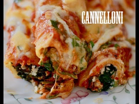 EASIEST SPINACH CANNELLONI | SIMPLE CANNELLONI WITH SPINACH AND RICOTTA