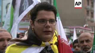 Anti-US sentiment at Iran national day event