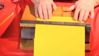 Как резать бумагу ровно и красиво