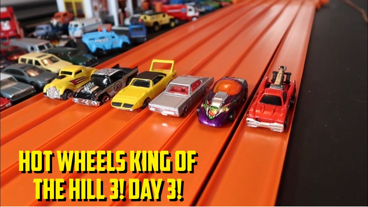HOT WHEELS KING OF THE HILL 3! (2021) - DAY 3! HOT WHEELS DIECAST DRAG RACING TOURNAMENT!