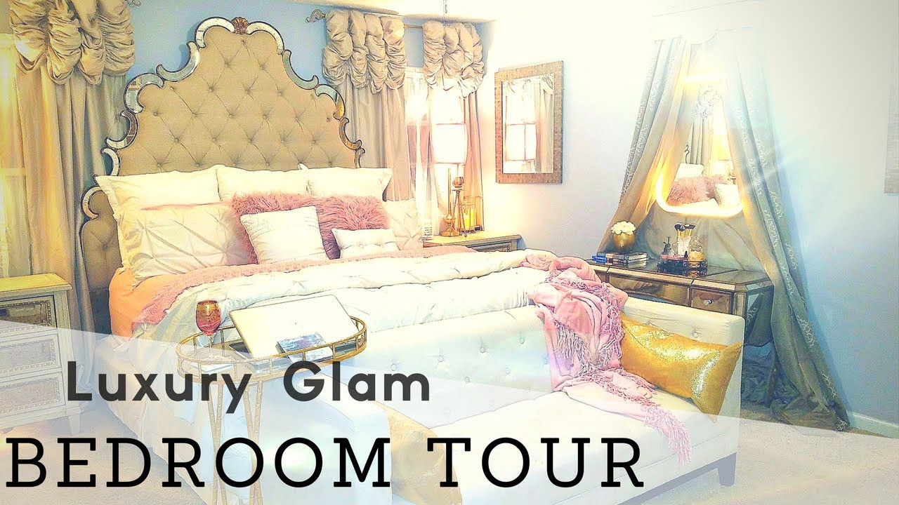 Extreme Bedroom Glam Room Makeover Reveal Master Bed Room Tour Luxury Room Wayfair Room Makeover