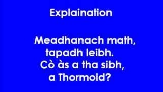 Gaelic lesson 1 part 2