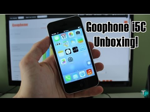 Goophone i5C - Unboxing (1:1 iPhone 5C Replica With Android (4.2)