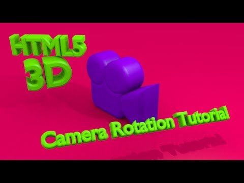 Rotate a 3D Camera in HTML5 with Threejs Linux Tutorial