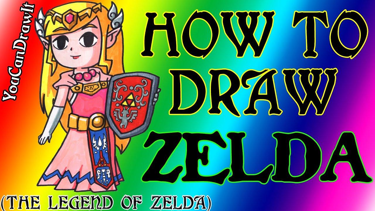 Download How To Draw Princess Zelda from The Legend Of Zelda ✎ YouCanDrawIt ツ 1080p HD