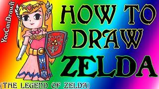 How To Draw Princess Zelda from The Legend Of Zelda ✎ YouCanDrawIt ツ 1080p HD