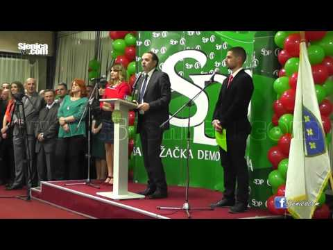 IZBORI 2016: RASIM LJAJIĆ (SDPS) U SJENICI / April 2016 / Sjenica