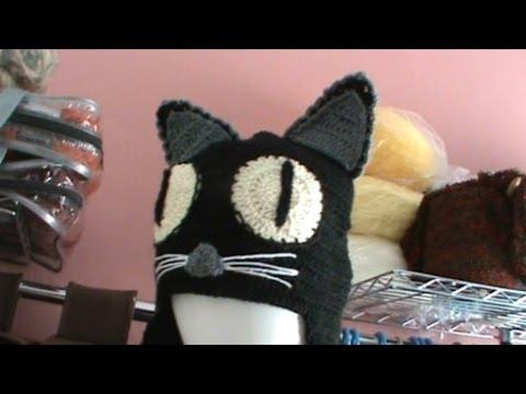 Como tejer gorro diseño gato ganchillo crochet parte 1 - YouTube