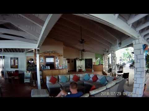 July 2018 -- Walking to Lobby Bar at Pineapple Beach Club Antigua