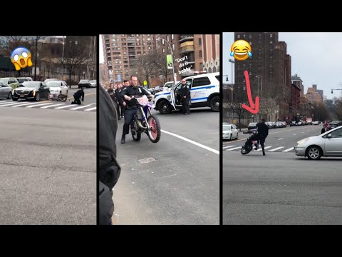 D-Wayne Chavez - New York Police officer crashes a motorcycle!