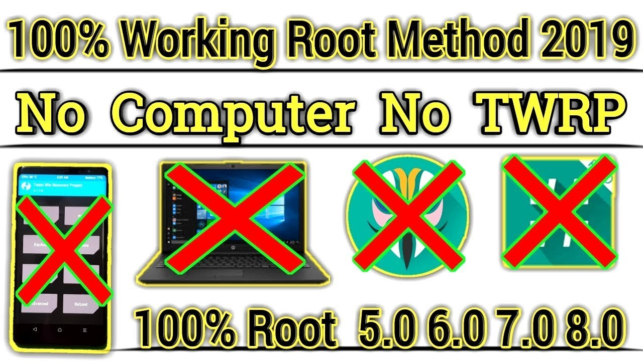 100% Working Rooting Method 2019 [ Without Computer Without TWRP ] 100%  Root 5 0 6 0 7 0 8 0