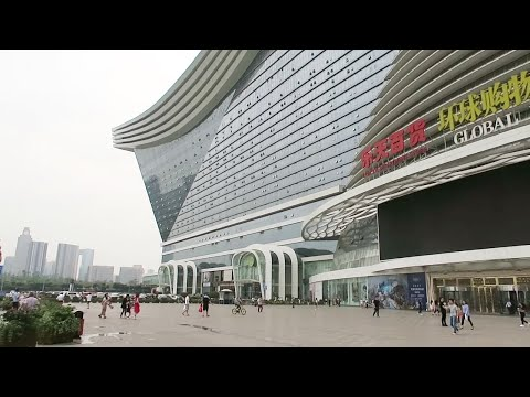 a Walk through the LARGEST Building in the World! (New Century Global Center, Chengdu, China)