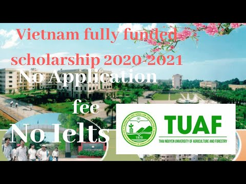 Vietnam fully funded scholarship 2020-2021, No application ...