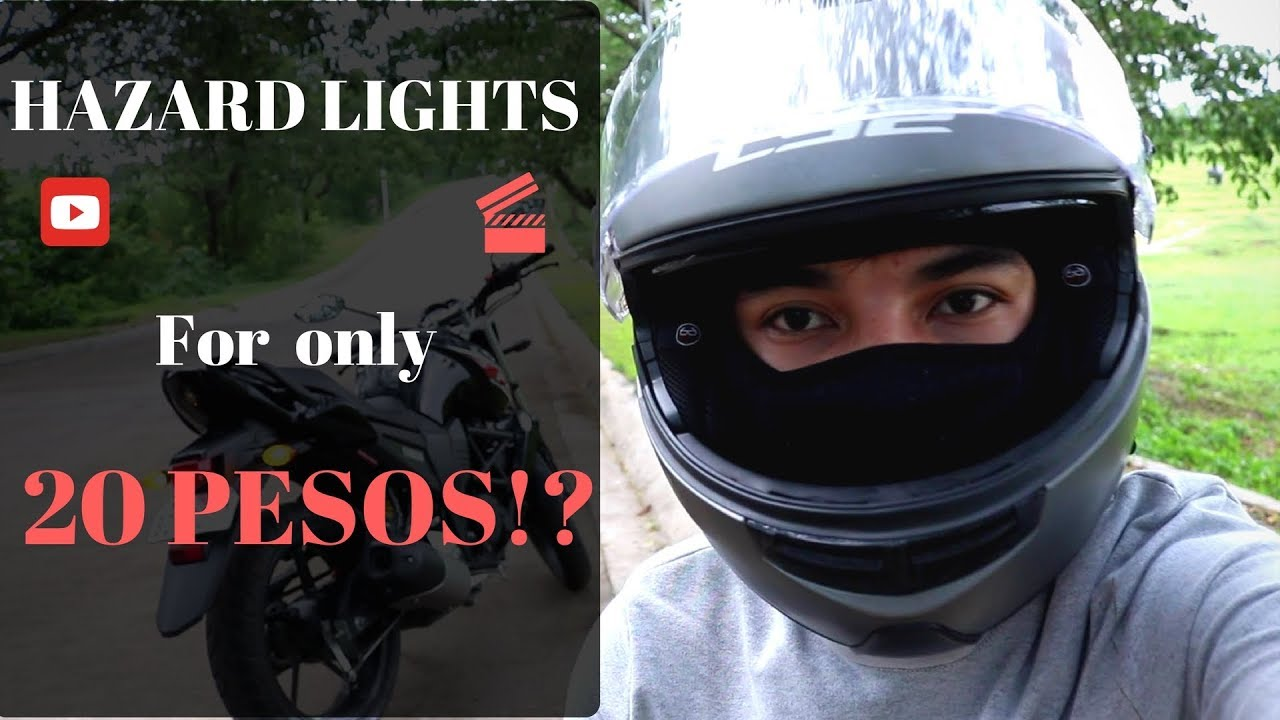 Motorcycle Hazard Lights Installation Cheap Easy Way Youtube Push To Test Light Wiring Diagram