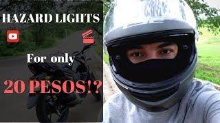 MOTORCYCLE HAZARD LIGHTS INSTALLATION (CHEAP & EASY WAY)