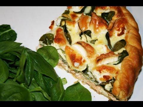 tarte-au-saumon-épinards-chèvre-facile