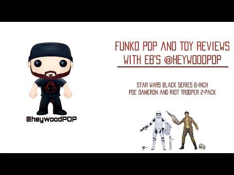 Star Wars Black Series Reviews: Poe Dameron and Riot Control First Order Trooper 2-Pack