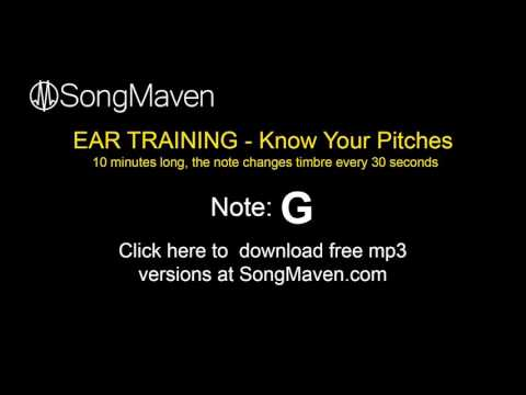 Perfect Pitch Training Tones, 10 Minutes Long - Note =