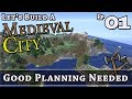 How To Build A Medieval City :: E1 :: Good Planning Needed :: Minecraft :: Z One N Only