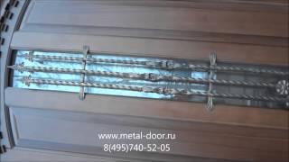 Металлические двери со стеклопакетом и ковкой(, 2014-11-14T09:40:08.000Z)