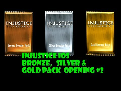 Injustice iOS Bronze, Silver, & Gold Pack Opening #2