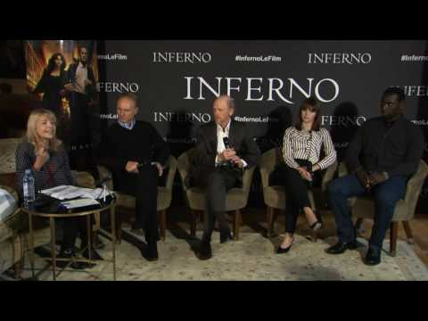 INFERNO - Conférence de Presse : DAN BROWN, RON HOWARD, OMAR SY et FELICITY JONES