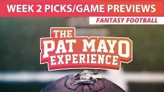 2017 Fantasy Football: Week 2 Picks, Game Previews & Survivor Selections thumbnail