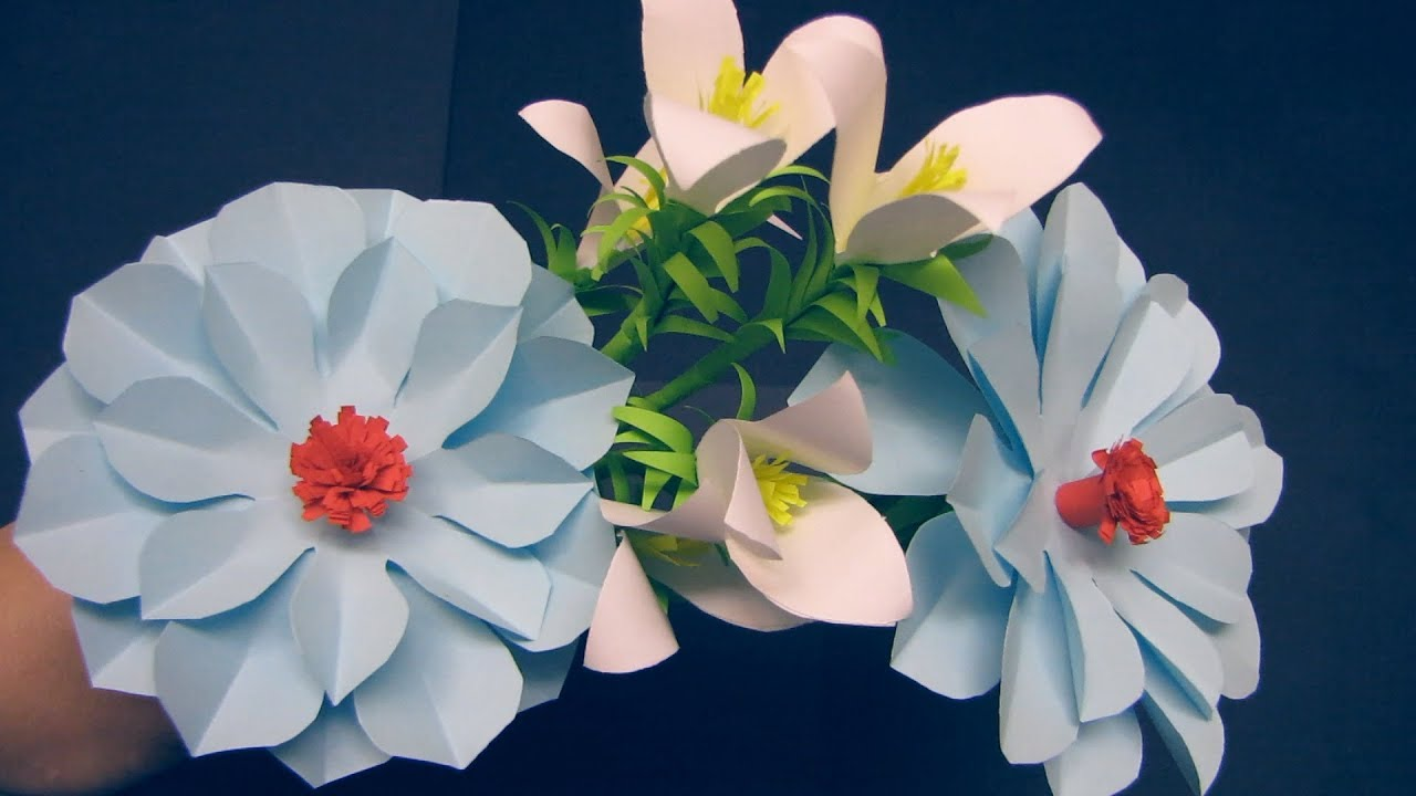 Paper flower stick diy paper craft handcraft diy how to make paper craft handcraft diy how to make beautiful paper flower stick mightylinksfo