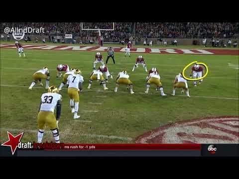 Josh Adams (Notre Dame RB) vs Stanford - 2017