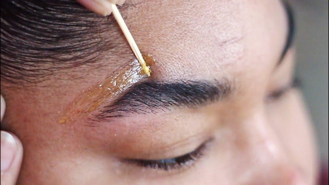 DIY SUGAR WAX HAIR REMOVAL | How To Wax Your Eyebrows at ...