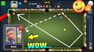 SURPRISING This Little KID In 8 Ball Pool With A LEGENDARY TRICKSHOT...(hilarious)