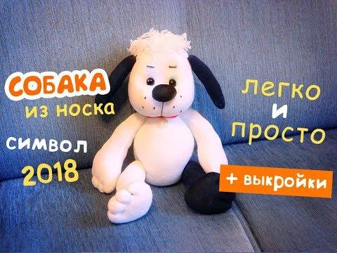 видео: Шьем собаку из носка - очень просто! МК по просьбе подписчиков :)