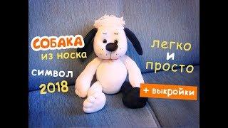 Шьем собаку из носка - очень просто! МК по просьбе подписчиков :)