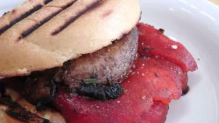 Roasted Pepper And Portobello Panini - By Laura Vitale - Laura In The Kitchen Episode 177