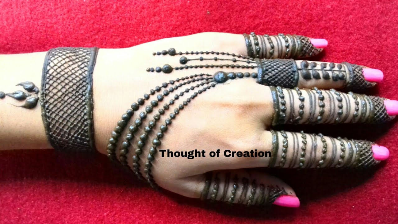 New And Latest Jewellery Mehndi Design 2018 Thought Of Creation