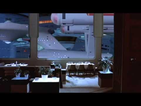 NCC 1701 USS Enterprise enters space dock