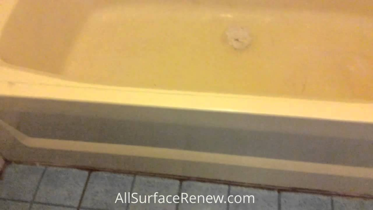 Reglazing fiberglass tub and Surround - YouTube