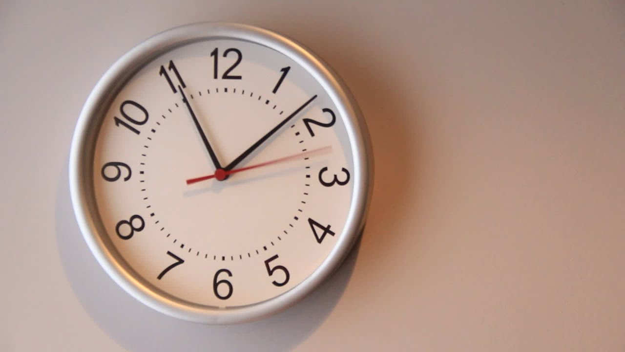 Office Wall Clock 30Sec 1080 Hd H264. Stock Footage