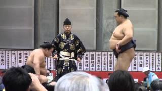 大相撲山梨富士山巡業での「豪栄道vs稀勢の里」